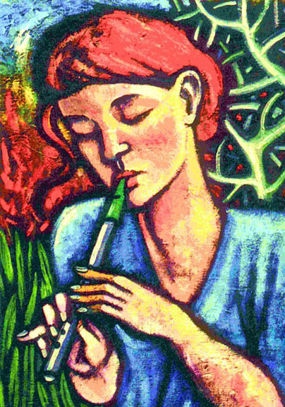 Tin Whistle Girl