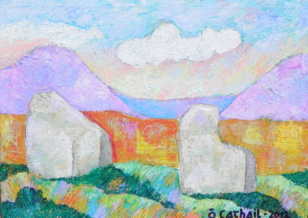 Derrygorman Stones<br>Acrylic on Canvas / 30 x 40 cm - €300<br><br>