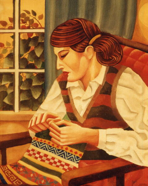 Portrait Orna Knitting 1982