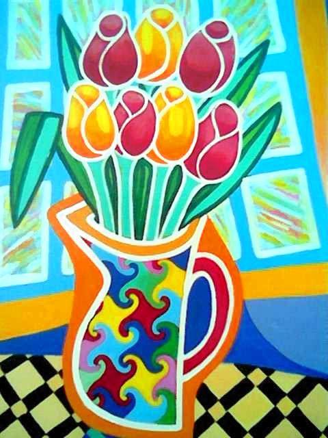 Seven Tulips